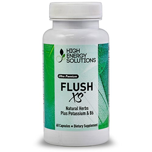 Flush-XS-Natural-Herbal-Diuretic-with-Potassium-And-B-6-By-High-Energy-Solutions-Flushes-Excess-Fluid-From-the-Body-60-Capsules-GMP-USA-100-Guarantee