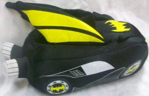 Boy Shoe Size 7-8, Raglan, Justice League, Dc Direct Batman, Soft Plush Comfy Slippers Sock Top Shoes, Great Halloween Costume