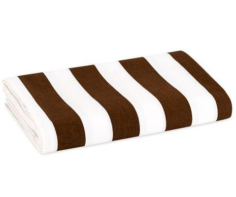 Stripes white/chocolate percale crib fitted sheet....