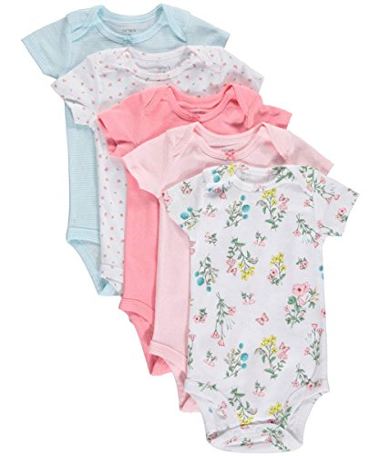 Carters-Baby-Girls-5-Pack-Floral-Bodysuits-Baby