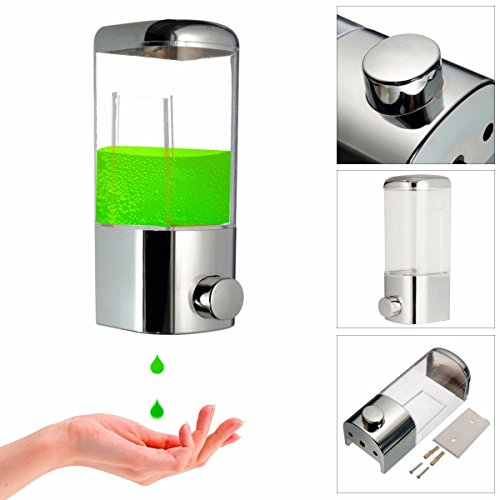 Shop24Hrs Wall Mounted Bathroom Lotion Shampoo Liquid Soap Dispenser (Dora Shower Head compare prices)