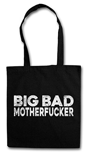 BIG BAD MOTHERFUCKER Hipster Shopping Cotton Bag Borse riutilizzabili per la spesa - Pulp Geldbeutel Mob Mobster Fiction G Hustler Pimp