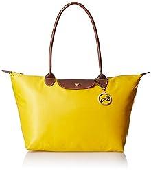 Alessia74 Women's Handbag Combo with Wallet (Yellow) (TY022I)