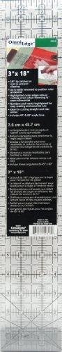 Omnigrid OmniEdge Non-Slip Quilter's Ruler - 3 Inch x18 Inch