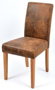 esszimmerstuhl polsterstuhl kunstleder stuhl eiche massiv ge lt 5740 wei k che. Black Bedroom Furniture Sets. Home Design Ideas