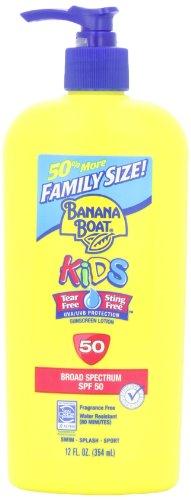 Banana Boat香蕉船 SPF 50 儿童户外防晒乳液,354ml超值家庭装图片