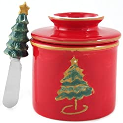 Butter Bell Christmas Tree Holiday Butter Crock