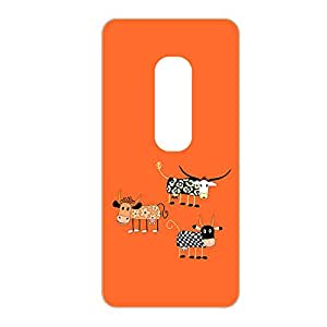 Vibhar printed case back cover for Moto X Play ThreeCows