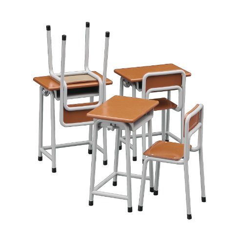 HASEGAWA 62001 1/12 School Desk & Chair - 1