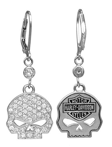 Harley-Davidson Women's Earrings, Bling Willie G