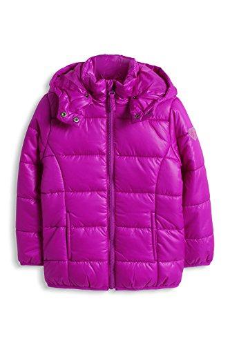 ESPRIT Mädchen Jacke mit abnehmbarer Kapuze, Einfarbig, Gr. 128 (Herstellergröße: 128/134), Rosa (DARK PINK 650)