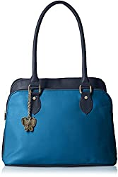 Butterflies Women's Handbag (Navy Blue) (BNS 0548NBL)