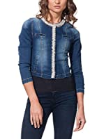 GOODIES Cazadora Vaquera With Pearls On Closure And Collar (Denim)