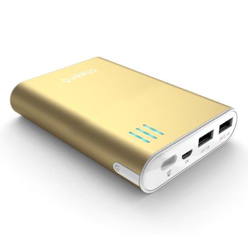 マルチデバイス対応 cheero Power Plus 2 10400mAh (ゴールド) 大容量モバイルバッテリー