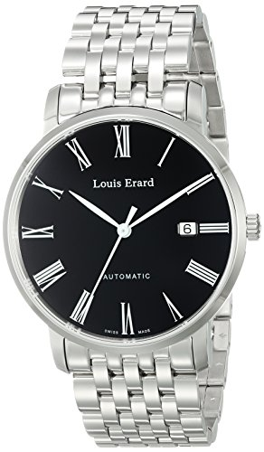 Louis-Erard-Mens-68233AA02BMA36-Excellence-Analog-Display-Automatic-Self-Wind-Silver-Watch