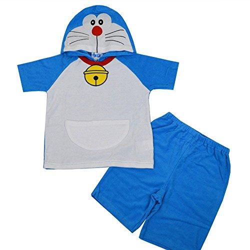 ドラえもん なりきり 変身 男の子,子供,キッズパジャマ,半袖パジャマ(ドラえもん100cm)