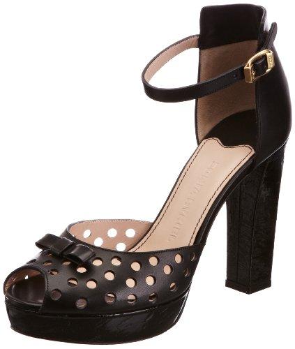 Sonia Rykiel Women's Black Ankle Strap Platform Heels 4 UK