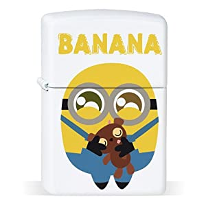 Petrol Lighter White Bob Banana Minion Minions - Chamalow-Shop