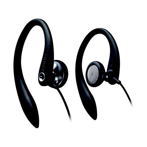 Philips Flexible Earhook Headphones Shs3200/28 (Black) (Replaces Shs3200/37)