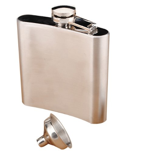 """""""6OZ Stainless Steel Pocket Whisky Liquor 6 OZ Hip Flask With Funnel"""" shopping"""