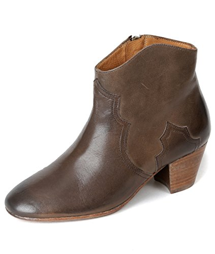 isabel-marant-dicker-womens-real-leather-cowboy-ankle-boots-37-brown