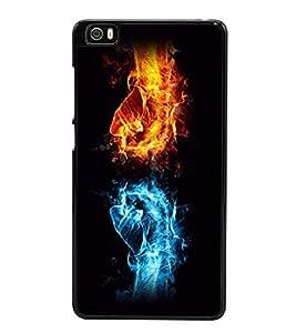 printtech Fire Ice Hands Punch Back Case Cover for Xiaomi Redmi Mi5::Xiaomi Mi 5