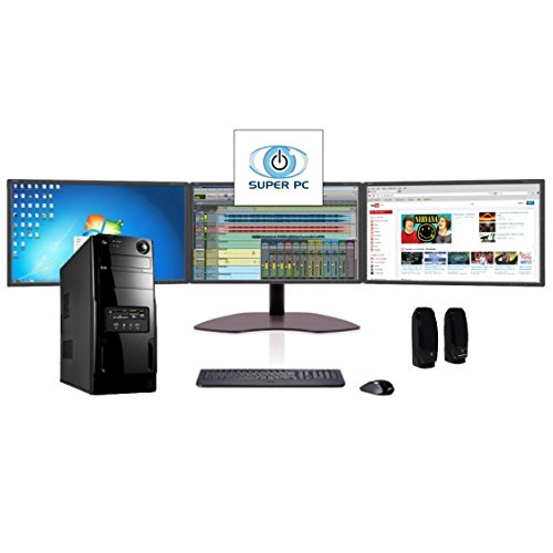 Super Pc | Three Monitor Computer And Triple Samsung Led Display Array | Intel Core I5 | 16Gb Ddr3 | 480Mb Ssd | Windows 7 Pro | Complete System Package!