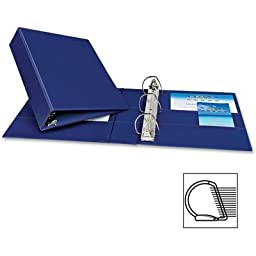 Binder, Slant, D-Ring, 3 In, Blue