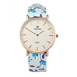 Senmar Women's Floral Fashion Wrist Watch - Blue