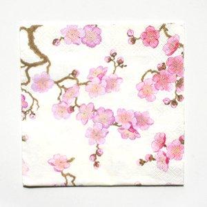 20 serviettes en papier fleurs de cerisier hygi ne et soins du corps - Serviette en papier motif ...
