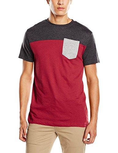Urban Classics Pocket Tee TB969 Burgundy/Cha/Gry T-Shirt Shirt Herren Mens