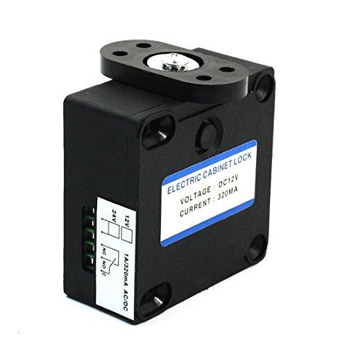Dc 12V 320Ma Shop Desk Cabinet Electric Enclosures Plastic Lock Black