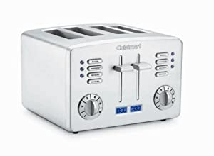 Cuisinart CPT-190 Brushed Stainless Steel 4-Slice Toaster with Countdown Timer
