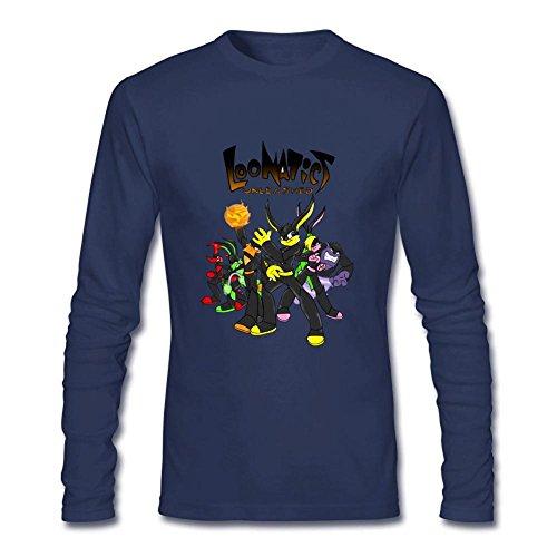 Kettyny Men's Loonatics Unleashed Long Sleeve T Shirt (Lexi Bunny)