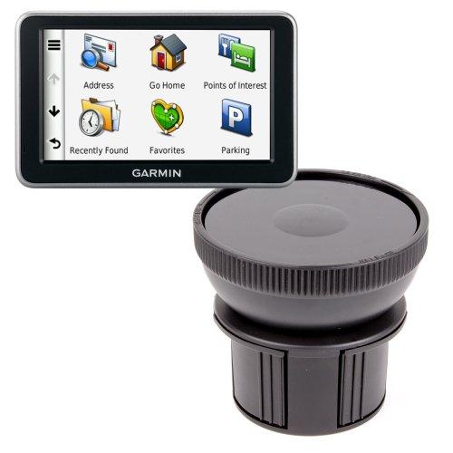 Duragadget Anti-Shock / Vibration & Adjustable In Car Cup Holder Smart Mobile Phone Mount Ideal For Garmin Nüvi 52Lm / Garmin Nüvi 3597Lmt / Garmin Nuvi 3598Lmt-D / Garmin Nuvi 2547Lm / Garmin Nüvi 2597Lmt