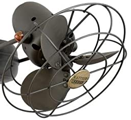 Matthews METALSF-FH-BKN, Aluminium Fan Head with Safety Cage, Black Nickel