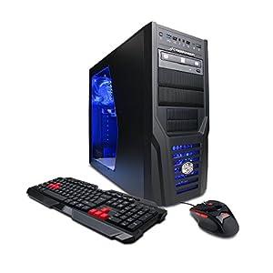 CyberpowerPC Gamer Ultra GUA880 Gaming Desktop - AMD FX-4300 Quad Core 3.8GHz, 8GB DDR3 RAM, 1TB HDD, 24X DVD, NVIDIA GT 720 1GB, Windows 7 Pro