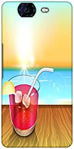 Snoogg Abstract Summer Background Designer Protective Back Case Cover For Mic...