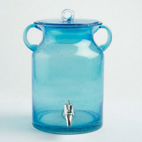 Tag 202185 28.5-Cup Drink Dispenser Bubble Glass, Aqua (Drink Dispenser Tags compare prices)