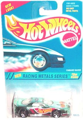 Hot Wheels - Racing Metals Series - Camaro Racer (Name on Roof Variant) - Collector #338 - 1