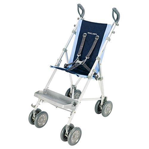 Maclaren Major Elite Stroller, Soft Blue/Navy - 1