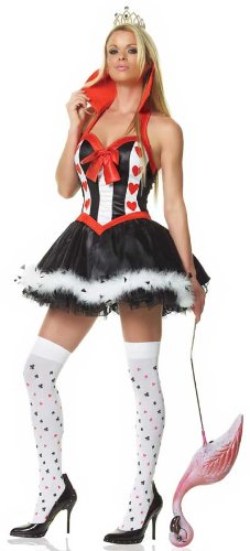 Leg Avenue Women's From Alice in Wonderland Mommy Queen of Hearts Costume