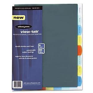templates wilson jones 8 tabs - wilson jones view tab professional sorter 8