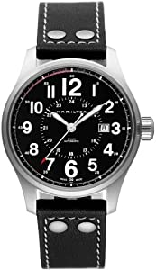 Hamilton Men's H70615733 Khaki Officer Black Dial Watch from Hamilton