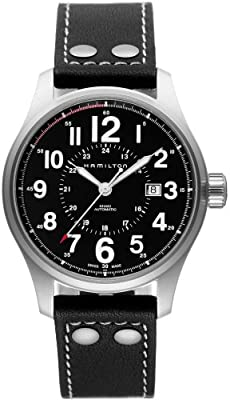 Hamilton Men's H70615733 Khaki Officer Black Dial Watch