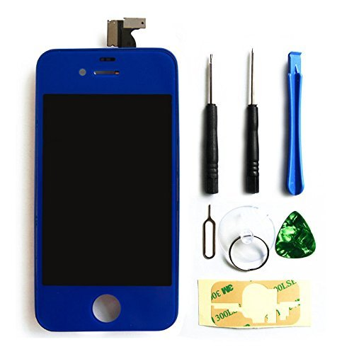 Ztr Replacement Lcd Touch Screen Digitizer Assembly For Verzion Cdma Iphone 4 Dark Blue