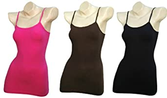 Women's 3-Pack Seamless Solid Colors Camisole