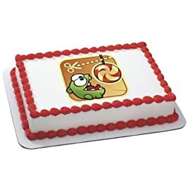 Cut the rope om nom edible image