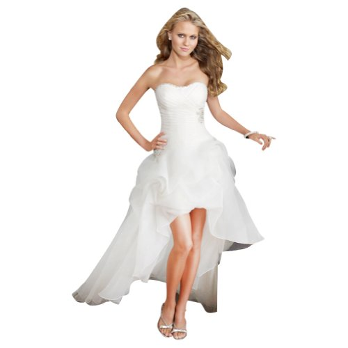 GEORGE BRIDE Strapless High-low Satin Wedding Dress