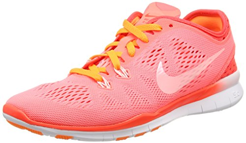 Nike Women's Free 5.0 Tr Fit 5 Brthe Lv Glw/White/Brght Crmsn/Brght Training Shoe 7.5 Women US